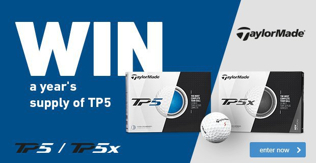 Win a year's supply of TaylorMade TP5 golf balls